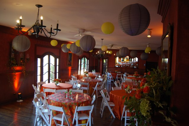 The Magnolia Room decorated for a birthday party.