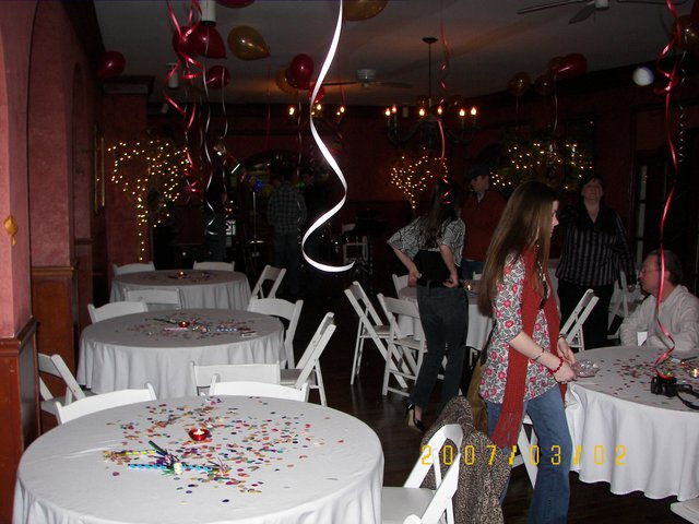 The Magnolia Room can be decorated for any kind of party.